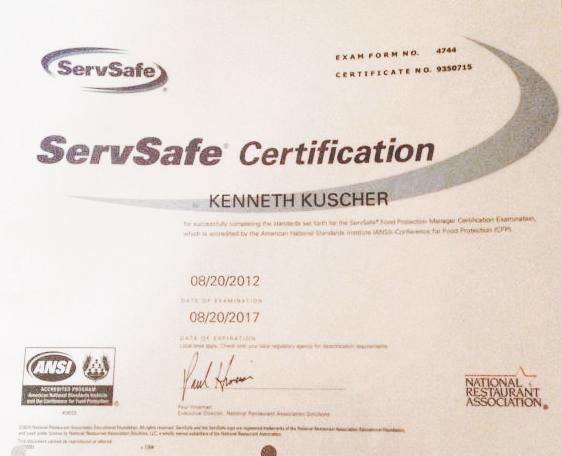 Florida Servsafe Manager Certification - Florida Food Handler ...