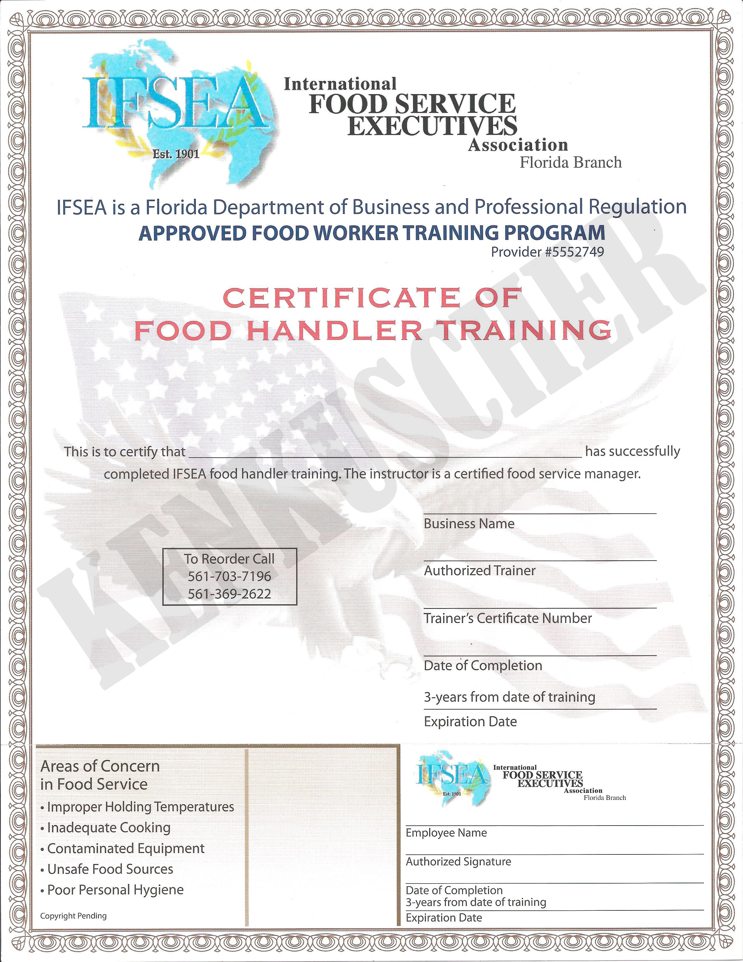 Florida Food Handler Certificates Florida Food Handler Certificates